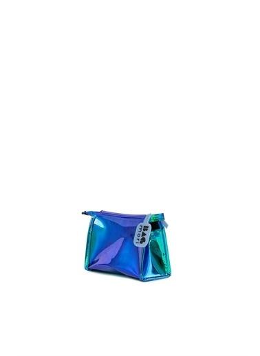 Bagmori  Kadın Hologram Fermuarlı Makyaj Çantası M000006245 Mavi